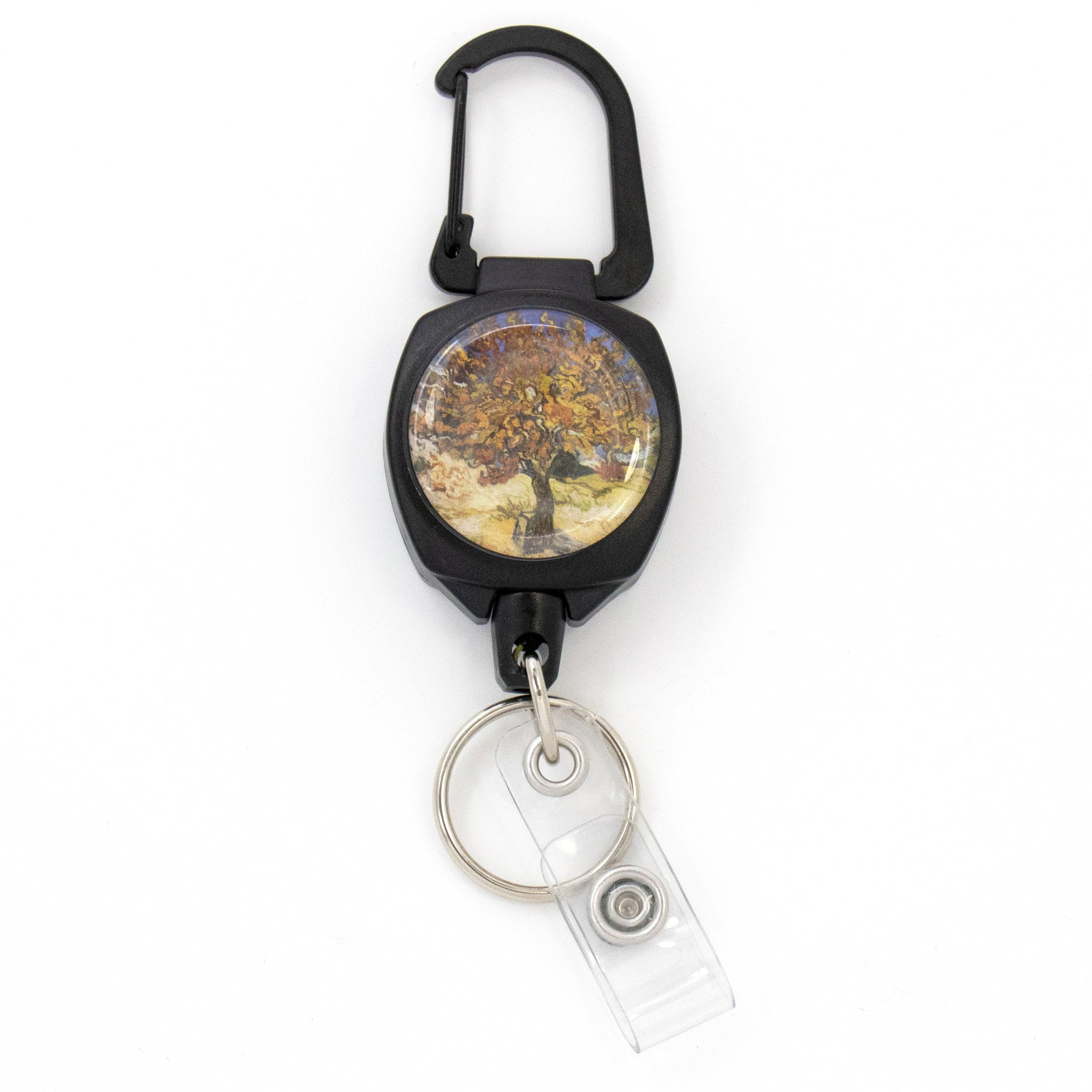 Buttonsmith® Van Gogh Mulberry Tree Heavy Duty Sidekick Badge Reel - Made in USA