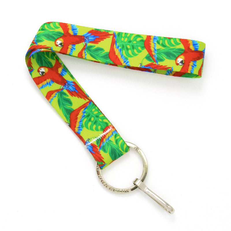 Buttonsmith Scarlet Macaw Wristlet Lanyard Made in USA - Buttonsmith Inc.