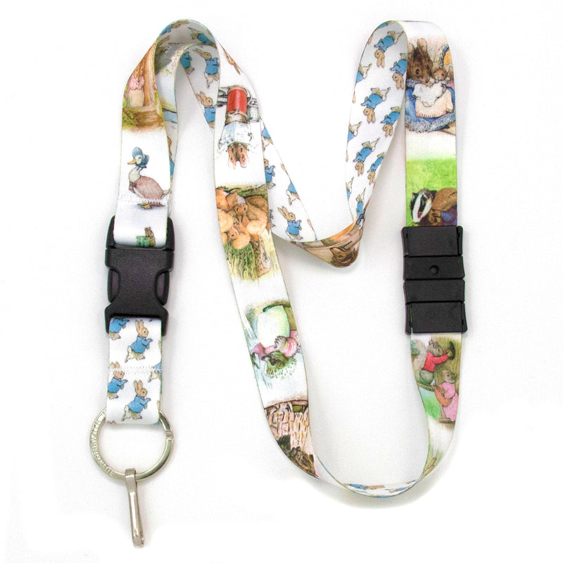 Buttonsmith Beatrix Potter Peter Rabbit Breakaway Lanyard - Made in USA - Buttonsmith Inc.