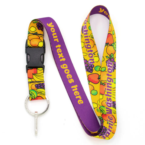Buttonsmith Fruit Frenzy Custom Lanyard Made in USA