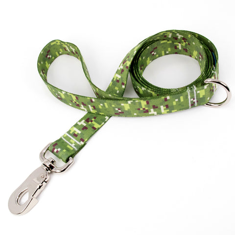 Buttonsmith PixelLand Camo Dog Leash Fadeproof Made in USA