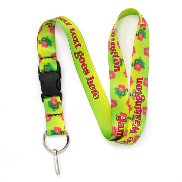 Buttonsmith Geckos Custom Lanyard - Made in USA