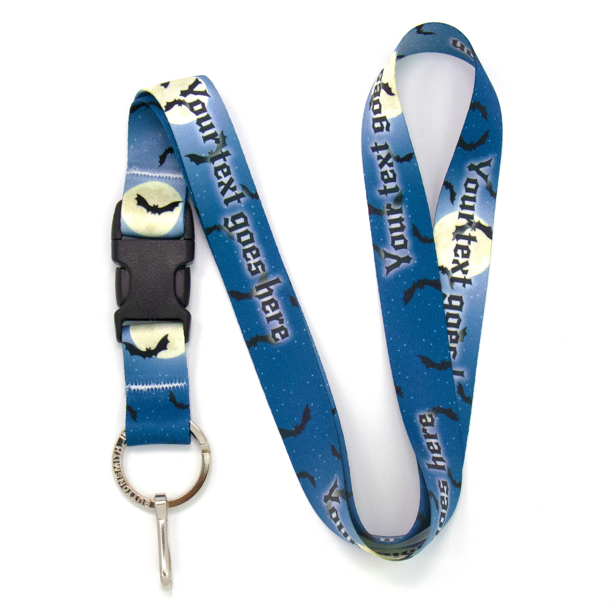 Buttonsmith Full Moon Halloween Custom Lanyard - Made in USA