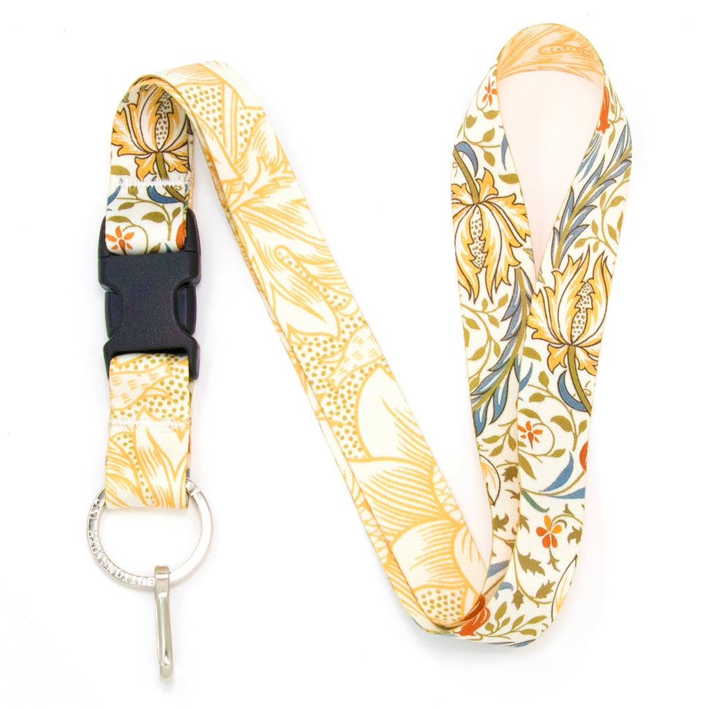 Buttonsmith William Morris Flora Lanyard - Made in USA