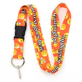 Buttonsmith Emoji Orange Custom Lanyard - Made in USA