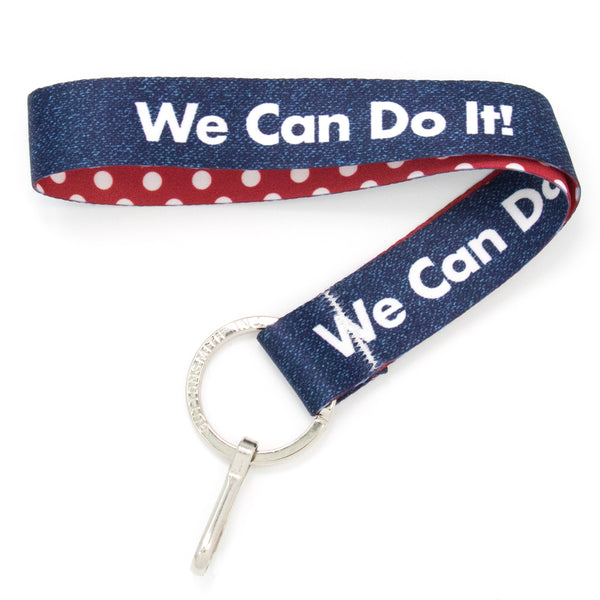 Buttonsmith We Can Do It Wristlet Lanyard Made in USA