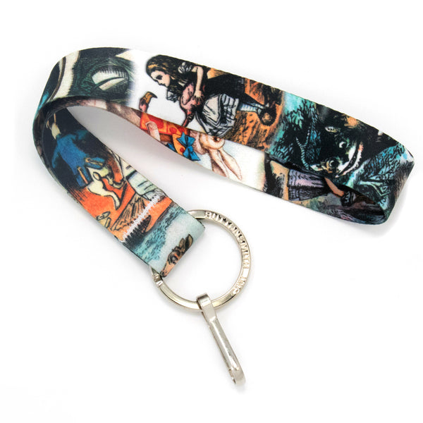 Buttonsmith Alice in Wonderland Wristlet Lanyard Made in USA