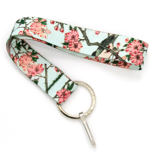 Buttonsmith Hiroshige Cherry Blossoms Wristlet Lanyard Made in USA