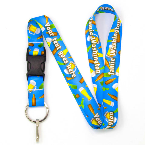 Buttonsmith Beer Custom Lanyard Made in USA