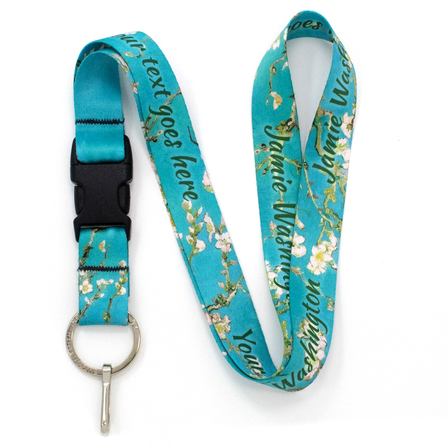Buttonsmith Van Gogh Almond Blossom Custom Lanyard - Made in USA