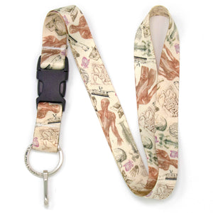 Buttonsmith Anatomy Lanyard - Made in USA