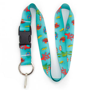 Buttonsmith Tropical Fish Lanyard - Made in USA