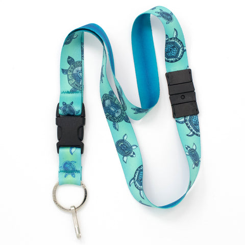 Buttonsmith Turtles Breakaway Lanyard - Made in USA