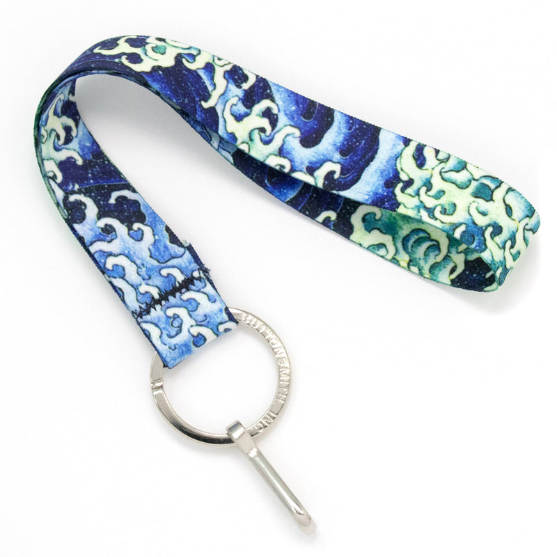 Buttonsmith Hokusai Waves Wristlet Lanyard Made in USA - Buttonsmith Inc.