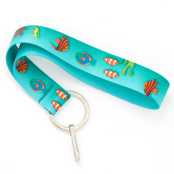 Buttonsmith Tropical Fish Wristlet Lanyard Made in USA