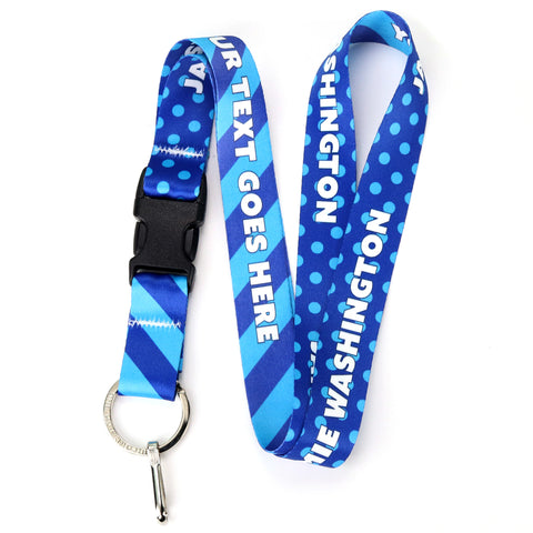 Buttonsmith Blue Dots Custom Lanyard