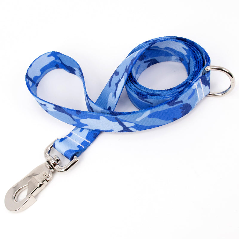 Buttonsmith Blue Camo Dog Leash Fadeproof Made in USA - Buttonsmith Inc.
