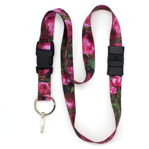 Buttonsmith Waldmueller Roses Breakaway Lanyard - Made in USA