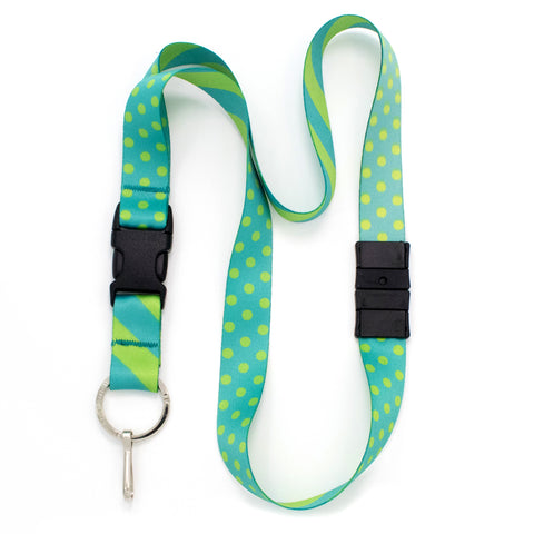 Buttonsmith Aqua Dots Breakaway Lanyard - Made in USA