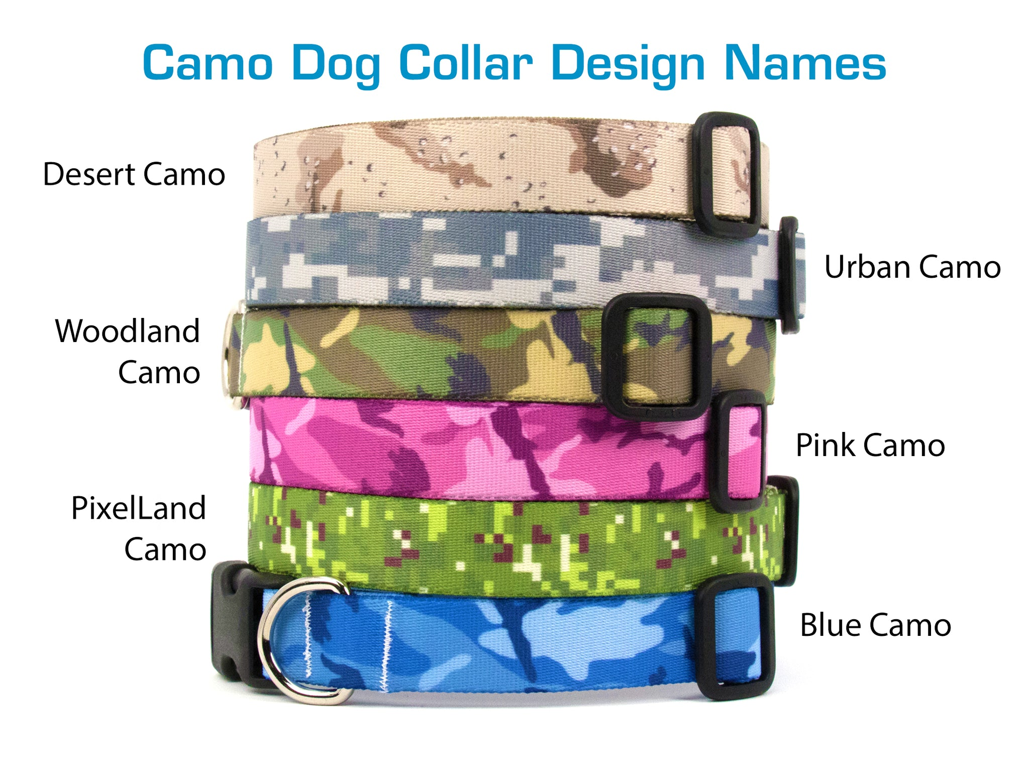 Buttonsmith Urban Camo Dog Collar - Made in USA