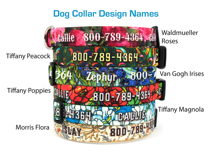 Buttonsmith Custom Personlized Dog Collars - Art Designs 2 - Made in USA