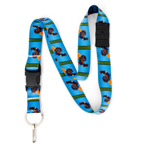 Buttonsmith Rooster Breakaway Lanyard - with Buckle and Flat Ring - Based on Rebecca McGovern Art - Officially Licensed - Made in the USA