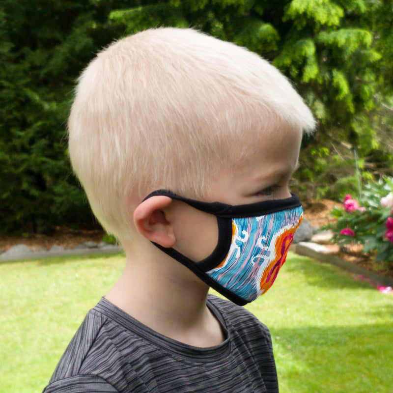 Buttonsmith Blossom Youth Adjustable Face Mask with Filter Pocket - Made in the USA - Buttonsmith Inc.