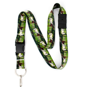 Buttonsmith Grace and Dice Breakaway Lanyard - with Buckle and Flat Ring - Based on Rebecca McGovern Art - Officially Licensed - Made in the USA