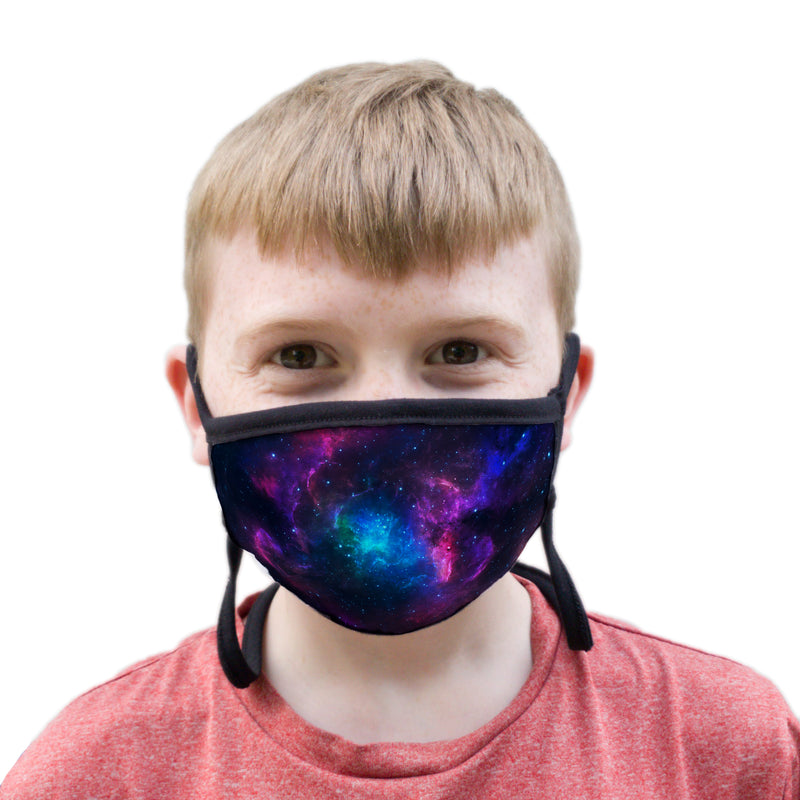 Buttonsmith Nebula Youth Adjustable Face Mask with Filter Pocket - Made in the USA - Buttonsmith Inc.