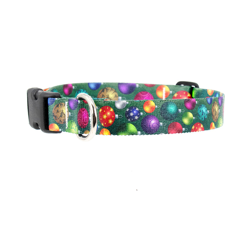 Buttonsmith® Christmas Ornaments Dog Collar - For Good Dogs™ - Made in the USA - Buttonsmith Inc.