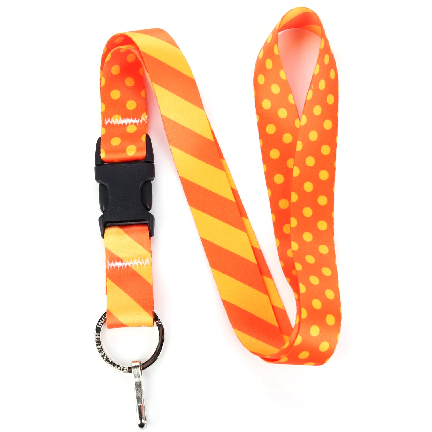 Buttonsmith Orange Dots Lanyard - Made in USA