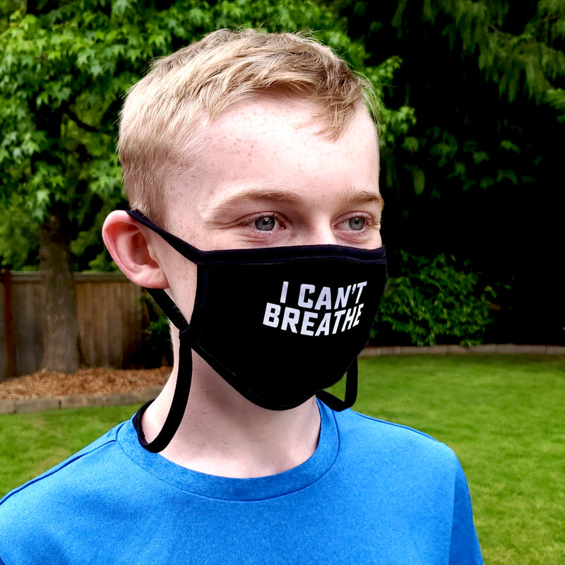 Buttonsmith Can't Breathe Adult XL Adjustable Face Mask with Filter Pocket - Made in the USA - Buttonsmith Inc.