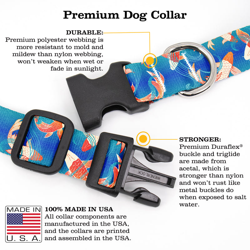 Buttonsmith Koi Pond Dog Collar - Made in the USA - Buttonsmith Inc.