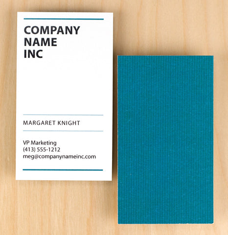 Custom Premium Business Cards - Pinstripes