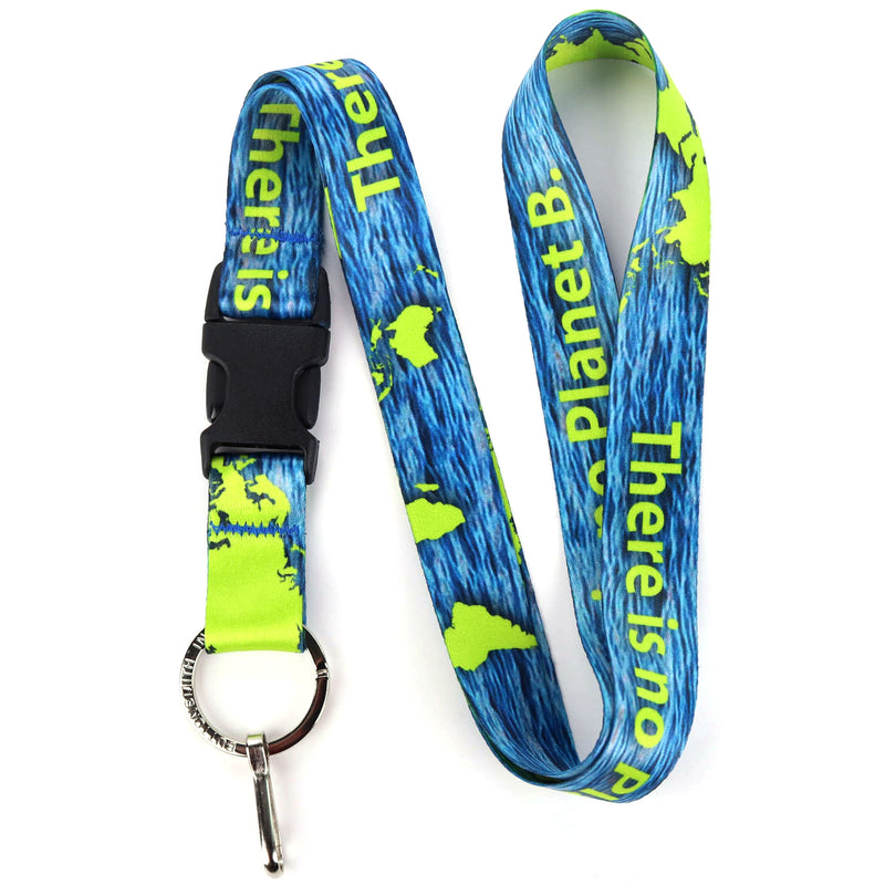 Buttonsmith Planet B Lanyard - Made in USA - Buttonsmith Inc.