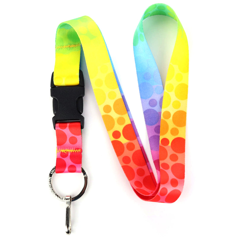 Buttonsmith Rainbow Dots Lanyard - Made in USA - Buttonsmith Inc.