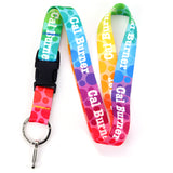Buttonsmith Rainbow Dots Custom Lanyard - Made in USA