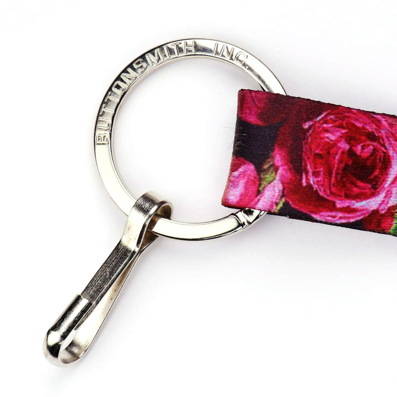 Buttonsmith Waldmueller Roses Lanyard - Made in USA - Buttonsmith Inc.