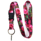 Buttonsmith Roses Lanyard - Made in U.S.A.