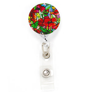 Buttonsmith Tiffany Poppy Tinker Reel Retractable Badge Reel - Made in the USA