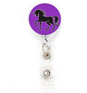 Buttonsmith Myth Unicorn Tinker Reel Retractable Badge Reel - Made in the USA