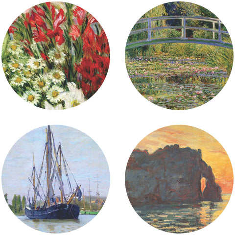 Buttonsmith® Claude Monet Gladiolas Tinker Top® Set – Made in USA – for use with Tinker Reel® Badge Reels