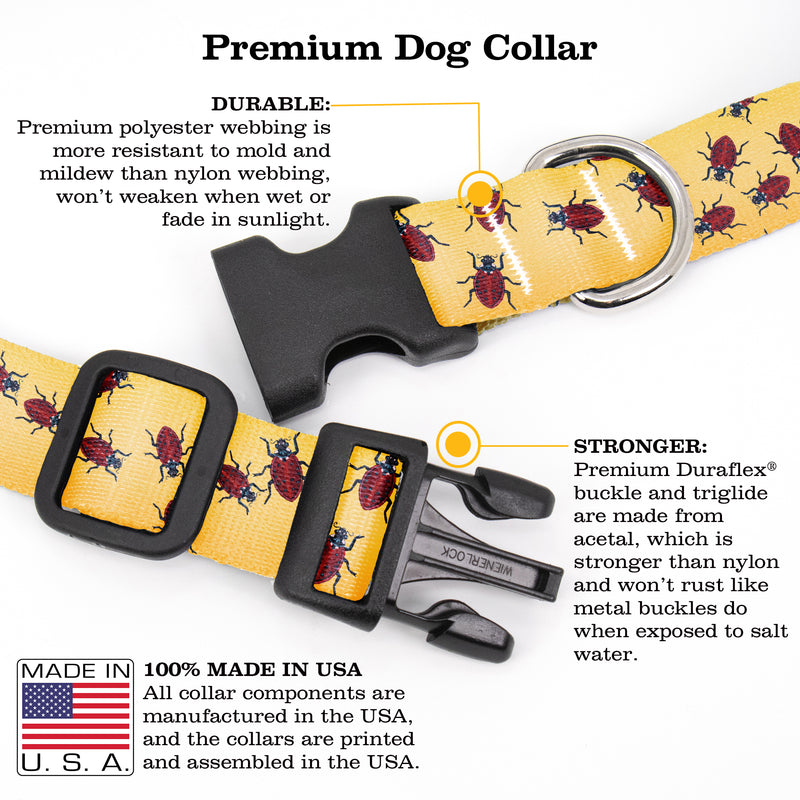 Buttonsmith McGovern Ladybugs Dog Collar - Made in the USA - Buttonsmith Inc.