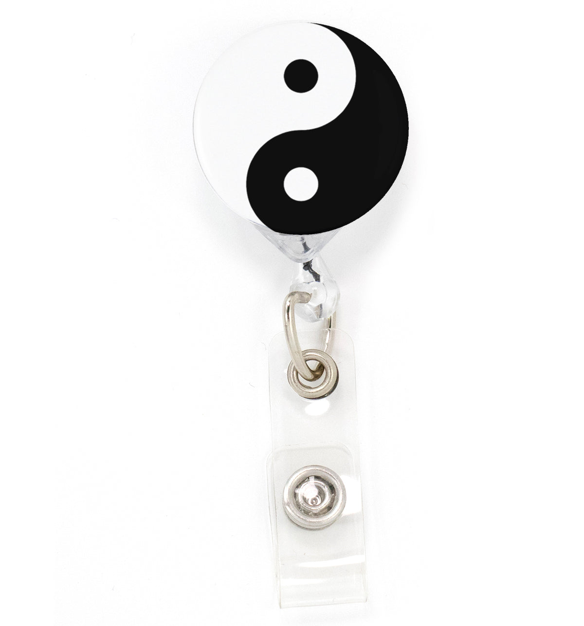 Buttonsmith Yin and Yang Tinker Reel Retractable Badge Reel - Made in the USA