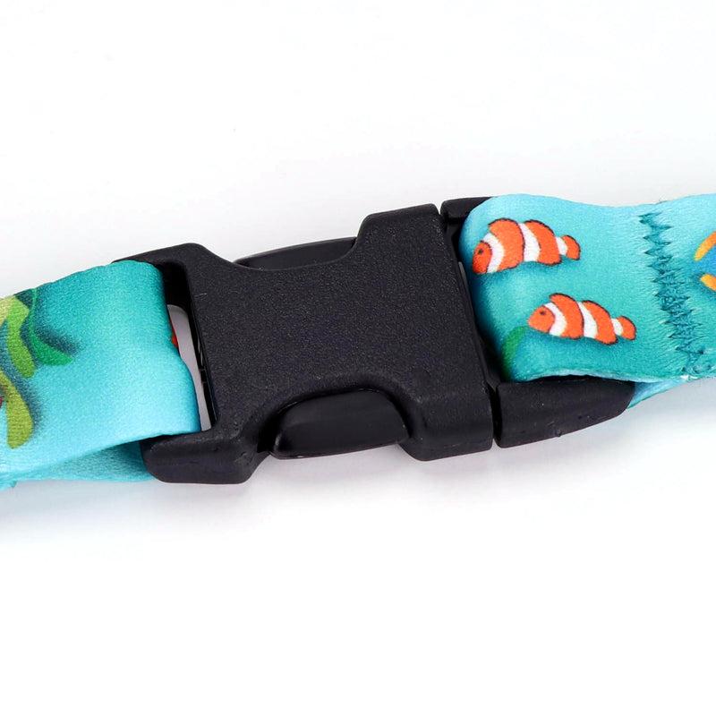 Buttonsmith Tropical Fish Breakaway Lanyard - Made in USA - Buttonsmith Inc.