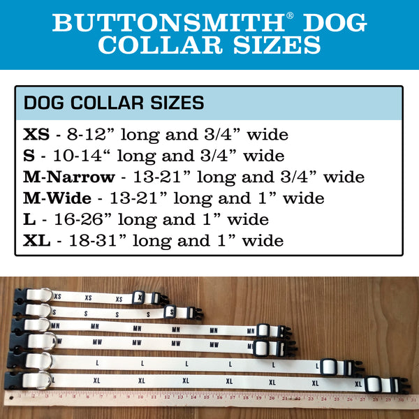 Buttonsmith Flamingos Dog Collar - Made in the USA