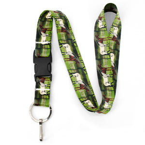 Buttonsmith Grace and Dice Premium Lanyard - with Buckle and Flat Ring - Based on Rebecca McGovern Art - Officially Licensed - Made in the USA