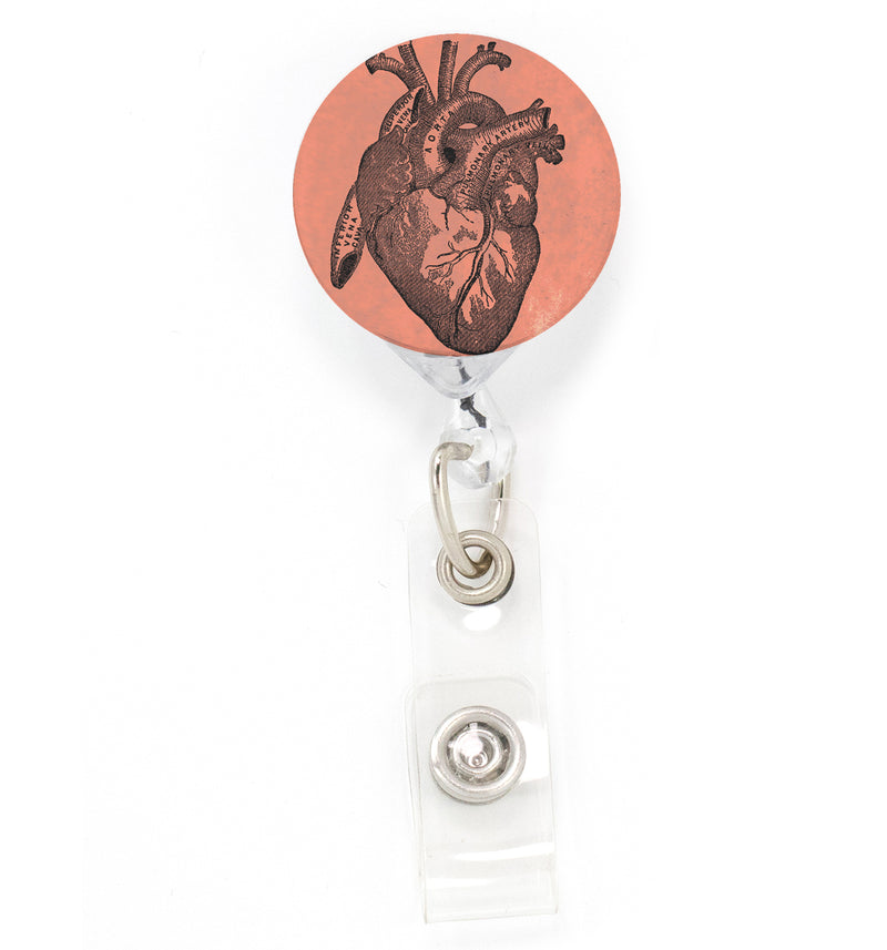 Buttonsmith Anatomy Heart Tinker Reel Retractable Badge Reel - Made in the USA - Buttonsmith Inc.