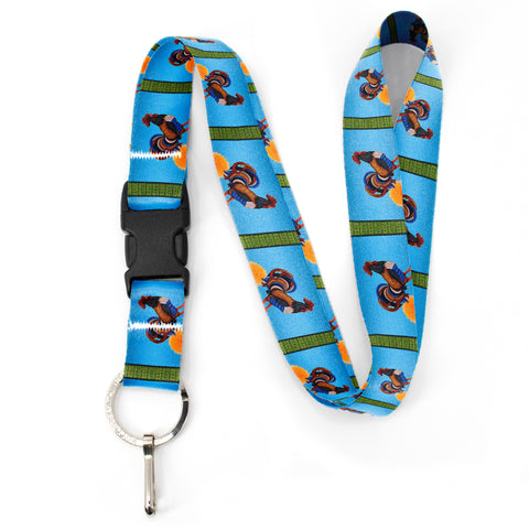 Buttonsmith Rooster Premium Lanyard - with Buckle and Flat Ring - Based on Rebecca McGovern Art - Officially Licensed - Made in the USA