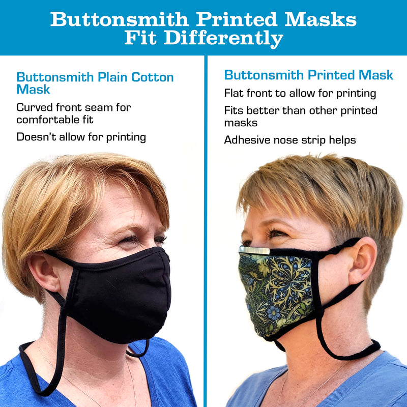 Buttonsmith Surreal Youth Adjustable Face Mask with Filter Pocket - Made in the USA - Buttonsmith Inc.